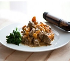 450g Ostrich in a Honey & Mustard Sauce with Sweet Potato