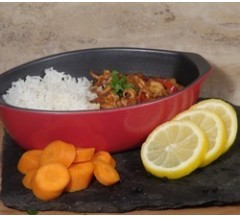450g Baby Octopus in a Black Bean Sauce with Basmati Rice